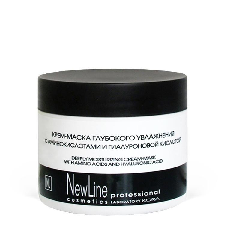 NEW LINE Крем-Маска для Глубокого Увлажнения с Аминокислотами и Гиалуроновой Кислотой, 300 мл