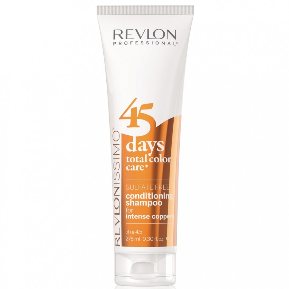 REVLON Шампунь-Кондиционер 45 Days Shampoo для Медных Оттенков, 275 мл revlon шампунь кондиционер для темных оттенков sensual brunettes color care 275 мл