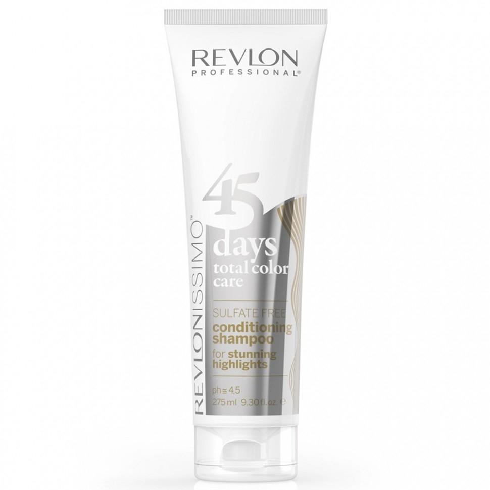 REVLON Шампунь-Кондиционер 45 Days Shampoo для Мелированых Волос, 275 мл revlon шампунь кондиционер для темных оттенков sensual brunettes color care 275 мл