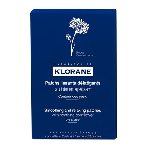 Klorane Маска -Компресс Soothing and Relaxing Patches for Tired-Eyes Успокаивающая для Контура Глаз,  7х2 мл
