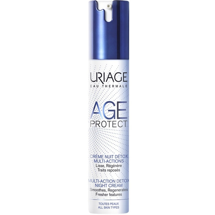 Uriage Крем-Детокс Age Protect  Многофункциональный Ночной Эйдж Протект Флакон-Помпа, 40 мл