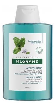 Klorane Шампунь - ДетоксAnti-Pollution Shampooing Detox Menthe Aquatiqu с Экстрактом Водной Мяты, 200 мл klorane шампунь с экстрактом оливы 200 мл