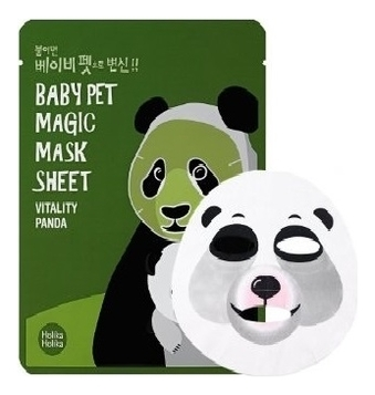 Holika Маска-Мордочка Baby Pet Magic Mask Sheet Vitality Panda Тканевая против Темных Кругов под Глазами Панда, 22 мл