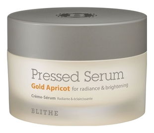 BLITHE Сыворотка-Крем BlithePressed Serum Gold Apricot Спресованная для Сияния, 50 мл blithe сыворотка pressed serum tundra chaga антивозрастная спресованная 50г