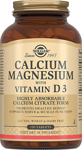 Solgar Кальций - Магний Calcium Magnesium with Vitamin D3 с Витамином D3 Таблетки №150, 1 уп cal mag citrate with vitamin d3