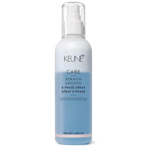 Keune Кондиционер-Спрей Care Keratin Smooth 2 Phase Spray Двухфазный Кератиновый Комплекс, 200 мл двухфазный спрей кондиционер two phase spray conditioner 250 мл