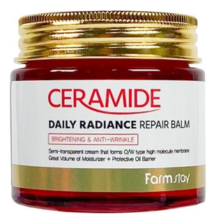 FarmStay Крем-Бальзам Ceramide Daily Radiance Repair Balm Укрепляющий для Лица c Керамидами, 80г