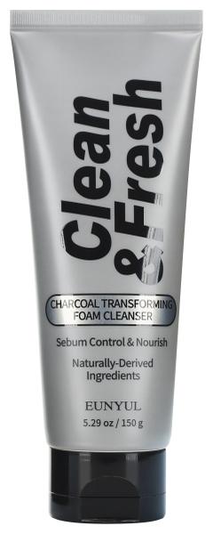 Elancyl Очищающая Пенка-Трансформер с Древесным Углем Clean & Fresh Charcoal Transforming Foam Cleanser, 150 г