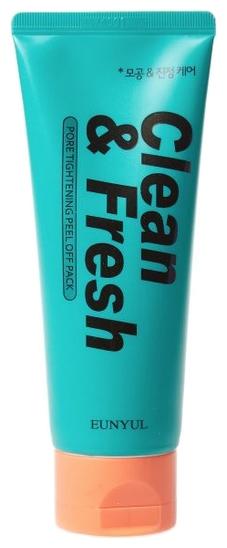 Eunyul Маска-Пленка для Сужения Пор Clean & Fresh Pore Tightening Peel Off Pack, 100 мл очищающая маска для сужения пор eunyul pore tightening radiance pack 100мл