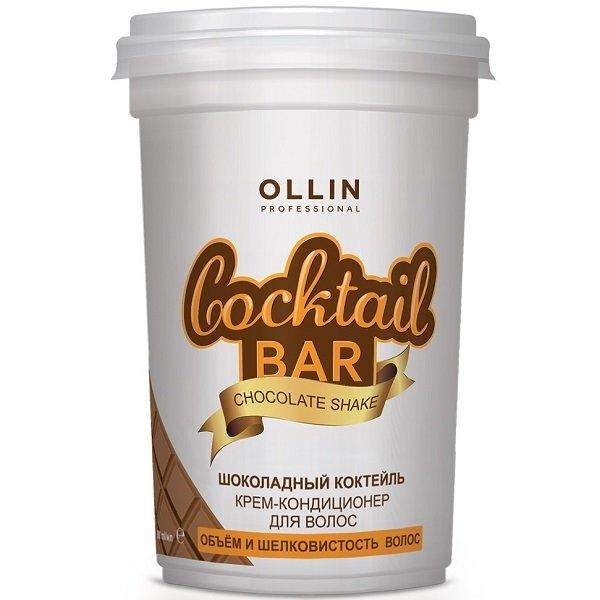 OLLIN PROFESSIONAL Крем-Кондиционер Cocktail BAR для Волос Шоколадный Коктейль Объём и Шелковистость Волос, 500 мл