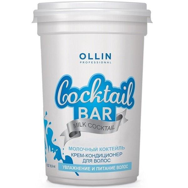 OLLIN PROFESSIONAL Крем-Кондиционер Cocktail BAR для Волос Молочный коктейль Увлажнение и Питание Волос, 500 мл
