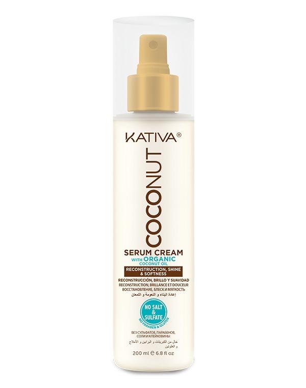 Kativa Крем-Сыворотка Coconut Восстанавливающая для Поврежденных Волос, 200 мл