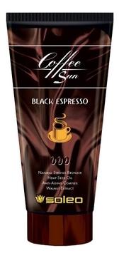 Фото - Soleo Крем-Бронзатор Coffe Sun Black Espresso с Проявителем Загара, 150 мл soleo крем бронзатор sunset time темный для загара с комплексом морских водорослей 150 мл