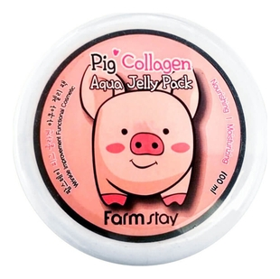 FarmStay Маска-Желе Collagen Aqua Piggy Jelly Pack Увлажняющая со Свиным Коллагеном, 100 мл pig collagen jelly cream