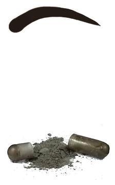 Godefroy Синтетическая Краска-Хна в Капсулах для Бровей (Черная) Eyebrow Tint Natural Black, набор 4 капсулы