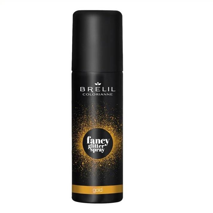 Brelil Professional Спрей-Блеск Fancy Glitter Sprey Фантазийный Золотистый, 75 мл