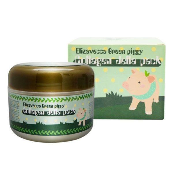 Elizavecca Маска-Желе Green Piggy Collagen Jella Pack Коллагеновая для Лица с Лифтинг-Эффектом, 100 мл