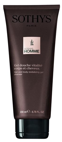 Sothys Гель-Шампунь Hair And Body Revitalizing Gel Cleanser Ревитализирующий  для Волос и Тела, 200 мл