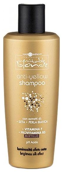 HAIR COMPANY Шампунь Анти-Желтый для Волос Inimitable Blonde Anti-Yellow Shampoo, 250 мл