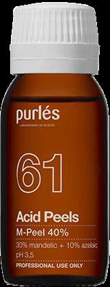 Purles Миндально-Азелаиновый Пилинг для Жирной Кожи M-Peel 40% pH 3,5, 100 мл