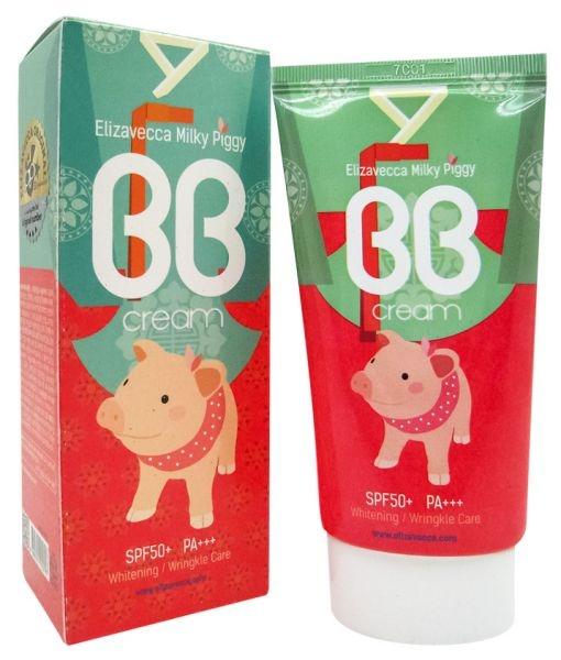 Elizavecca ББ-Крем Milky Piggy BB Cream SPF50+ Увлажняющий для Лица, 50 мл ультра увлажняющий крем spf50 40 мл