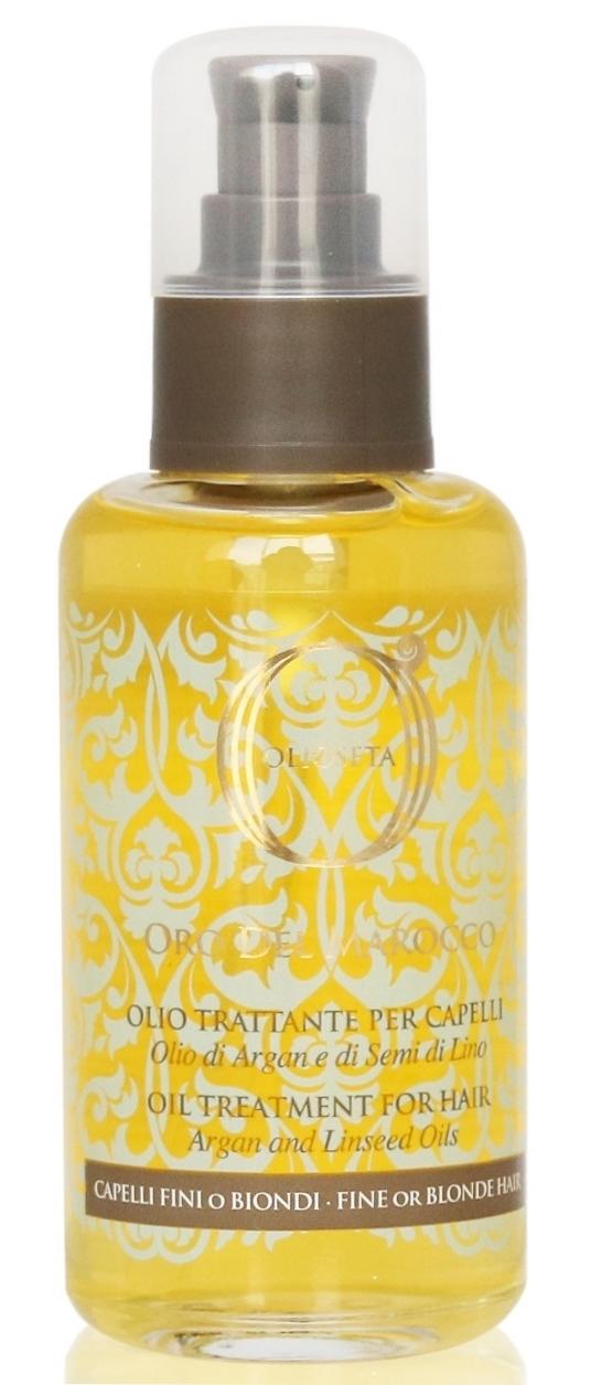 Barex Масло-Уход Olioseta Oro Del Marocco Oil Treatment for Hair с Маслами Арганы и Семян Льна, 100 мл