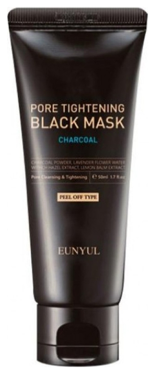 Eunyul Маска-Пленка Pore Tightening Black Mask Сужающая Поры с Углем, 50 мл secret key black out pore маска пленка 100 мл