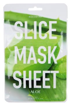 цена на Kocostar Маска-Слайс Slice Mask Sheet для Лица Алое-Вера, 20 мл