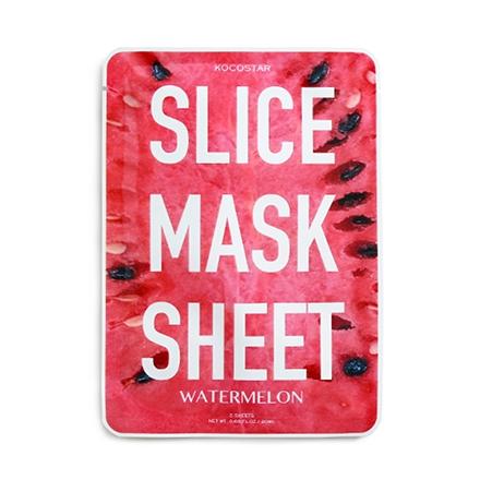цена на Kocostar Маска-Слайс Slice Mask Sheet для Лица Арбуз, 20 мл