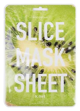 цена на Kocostar Маска-Слайс Slice Mask Sheet для Лица Киви, 20 мл
