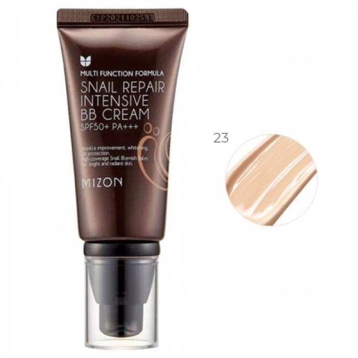 MIZON ББ-Крем Snail Repair Intensive BB Cream SPF50+ РА+++ #23 с Экстрактом Муцина Улитки, 50 мл