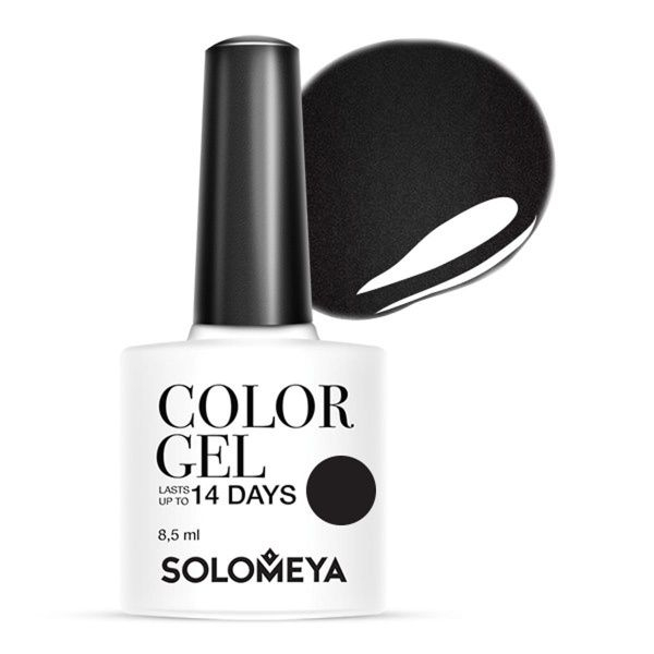 Solomeya Гель-Лак Color Gel Perfectly Black SCG003 Идеально Черный 60, 8,5 мл