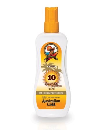 Australian Gold Защитный Спрей-Гель для Загара на Солнце SPF 10 Spray Gel, 237 мл