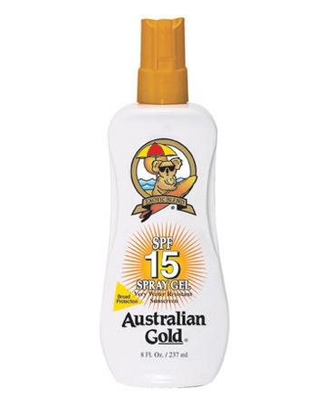 Аustralian Gold Защитный Спрей-Гель для Загара на Солнце SPF 15 Spray Gel, 237 мл