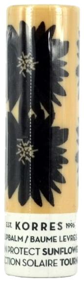 Korres Бальзам-Стик для Губ Подсолнух spf 20, 5 мл коррес бальзамстик для губ с экстрактом мандарина бесцветный spf 15 5 мл korres korres уход за губами