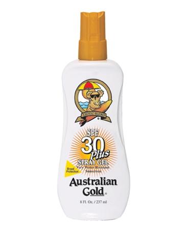 Аustralian Gold Защитный Спрей-Гель для Загара на Солнце SPF 30 Spray Gel, 237 мл