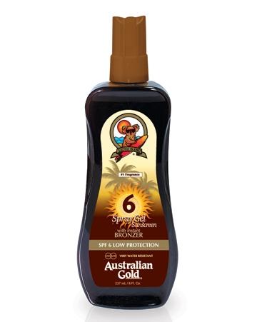 Australian Gold Масло-Спрей для Загара на Солнце с Защитным Фактором и Эксрактом Моркови SPF 6 Spray Oil, 237 мл