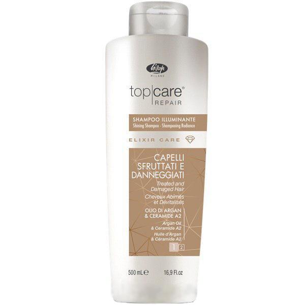 Lisap Шампунь-Эликсир для Восстановления и Придания Сияющего Блеска Top Care Repair Elixir Shampoo, 500 мл