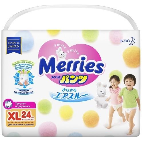 Фото - MERRIES Трусики-Подгузники для Детей Размер XL 12-22 кг, 24 шт подгузники трусики для детей размер m 6 11кг подгузники трусики 58шт