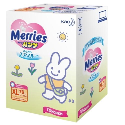 Фото - MERRIES Трусики-Подгузники для Детей Размер XL 12-22 кг, 76 шт подгузники трусики для детей размер m 6 11кг подгузники трусики 58шт