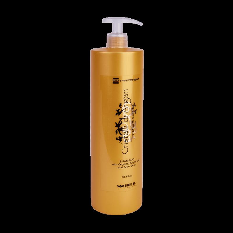 Brelil Professional Шампунь Argan Oil Crystals для создания интенсивной красоты, плотности и объема, шелковистости и блеска волос с маслом Аргании и молочком Алоэ, 1000 мл все цены