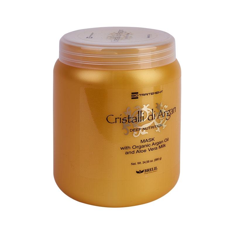 Brelil Professional Маска для глубокого восстановления, шелковистости и блеска волос с маслом Аргании и молочком Алоэ, 1000 мл недорого