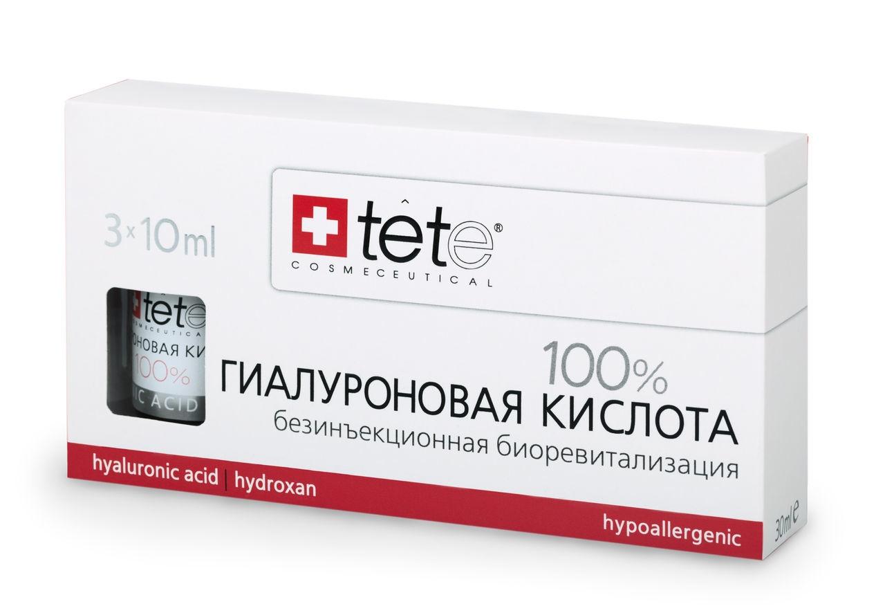 TETe Cosmeceutical Гиалуронова кислота 100%, 30 мл tete cosmeceutical маска успокаивающая с хитозаном 500г