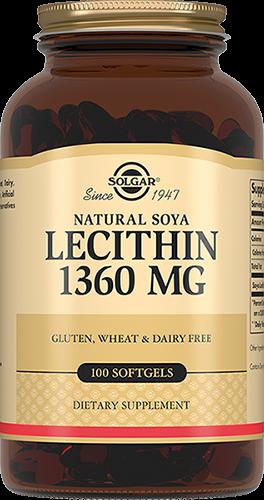 Solgar Лецитин Lecithin Натуральный Соевый Капсулы №100