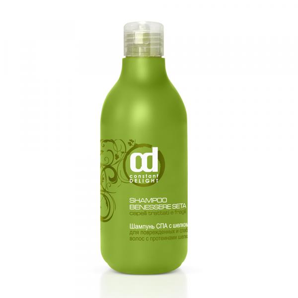 лучшая цена Constant Delight Шампунь Shampoo Benessere Seta СПА с Шелком для Поврежденных и Слабых Волос, 250 мл