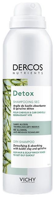VICHY Шампунь Dercos Nutrients Detox Dry-Shampoo Сухой Нутриентс Детокс, 150 мл