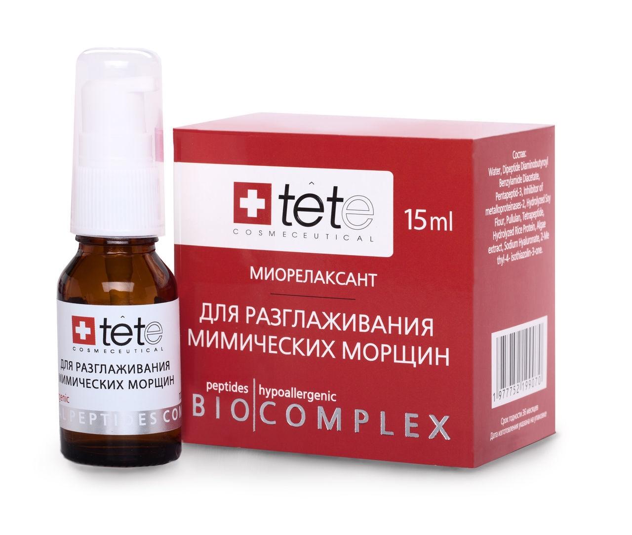Фото - TETe Cosmeceutical Биокомплекс для разглаживания мимических морщин, 15 мл кремсыворотка для разглаживания мимических и возрастных морщин 30 мл кора для зрелой кожи