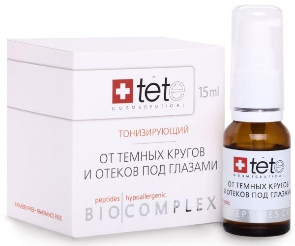 TETe Cosmeceutical Биокомплекс тонизирующий от отеков и темных кругов, 15 мл средство от отеков