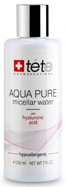 TETe Cosmeceutical Мицеллярная вода с гиалуроновой кислотой, 200 мл tete cosmeceutical омолаживающий крем с коллоидным золотом и гиалуроновой кислотой 50 мл