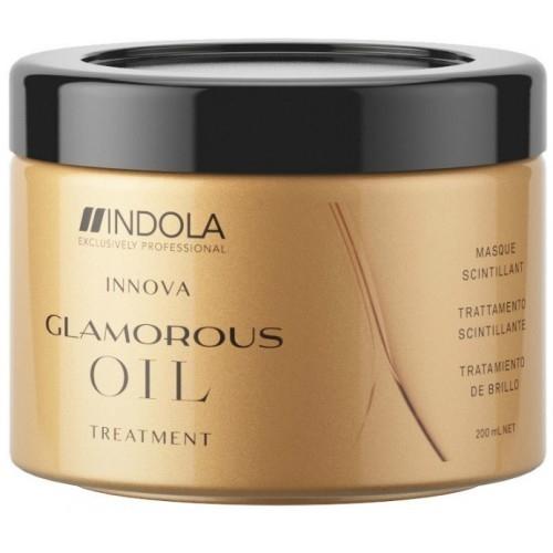 цена INDOLA PROFESSIONAL Маска Glamorous Oil Treatment Hair Mask Восстанавливающая Смываемая Чарующее Сияние, 200 мл онлайн в 2017 году
